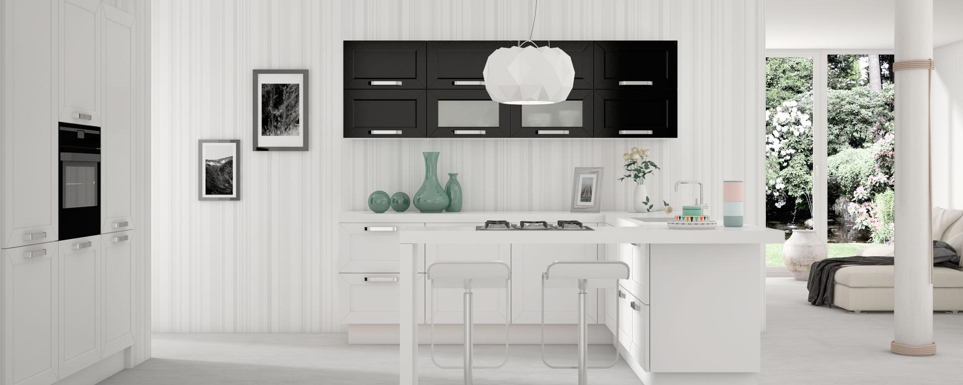 Cocina Blanco y NegroNova